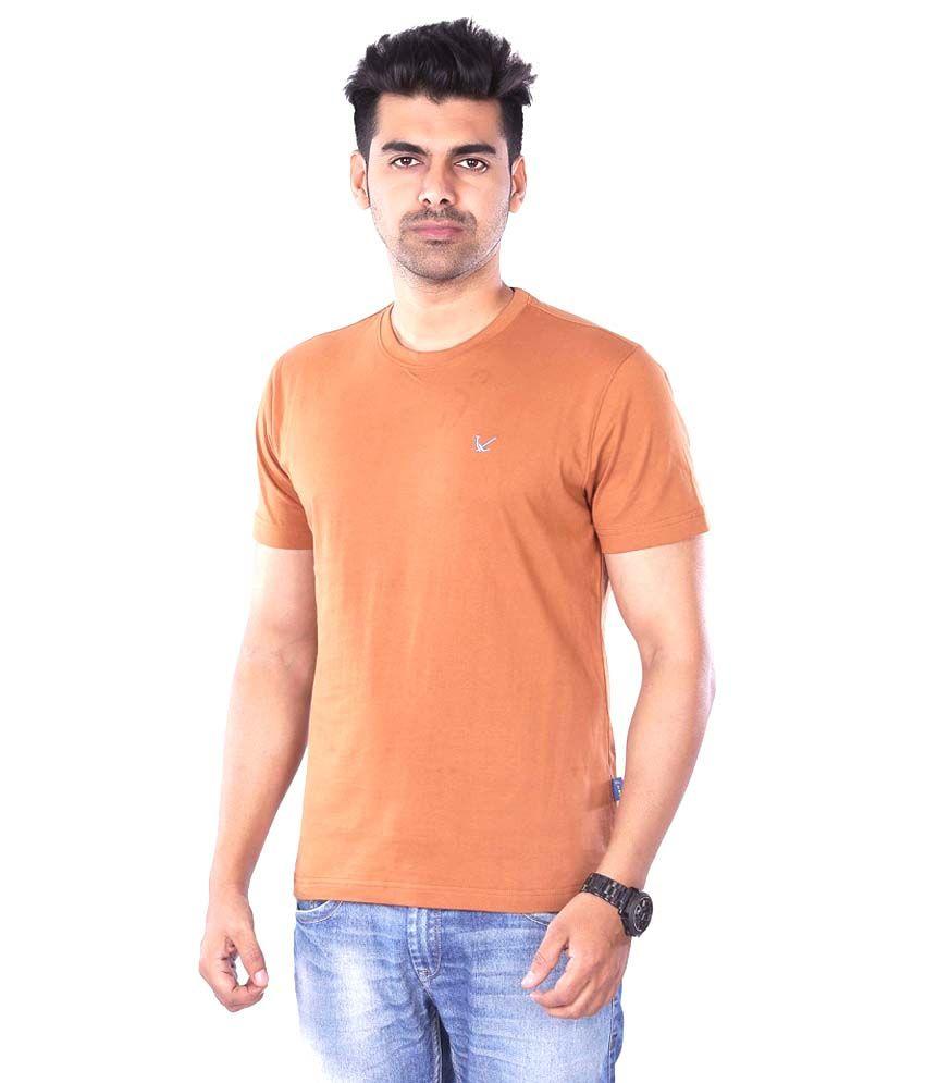 Mrtees Brown Cotton T-shirt