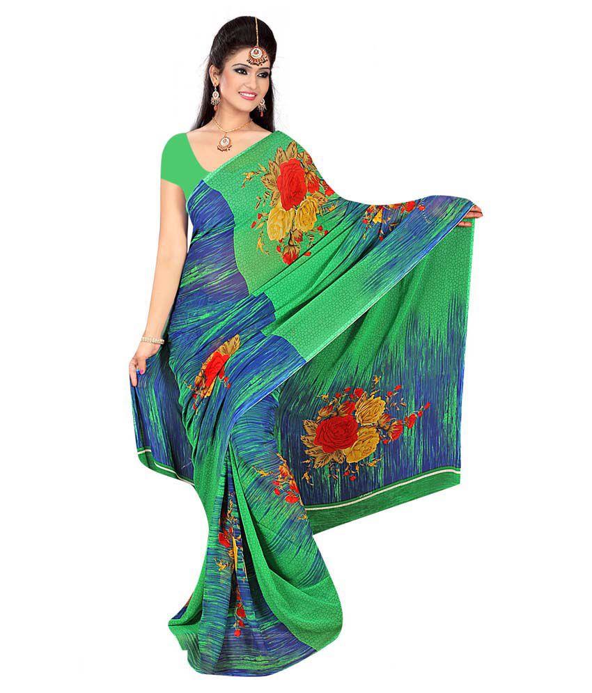 Shopeezo Multicoloured Georgette Saree
