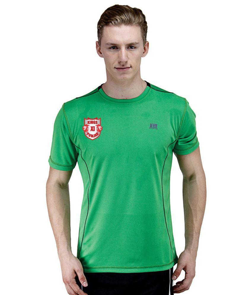 T10 Sports Green Round T Shirt