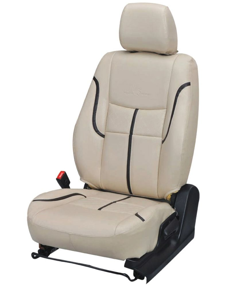 Khushal Seat Cover Off White Leather Car Seat Cover For