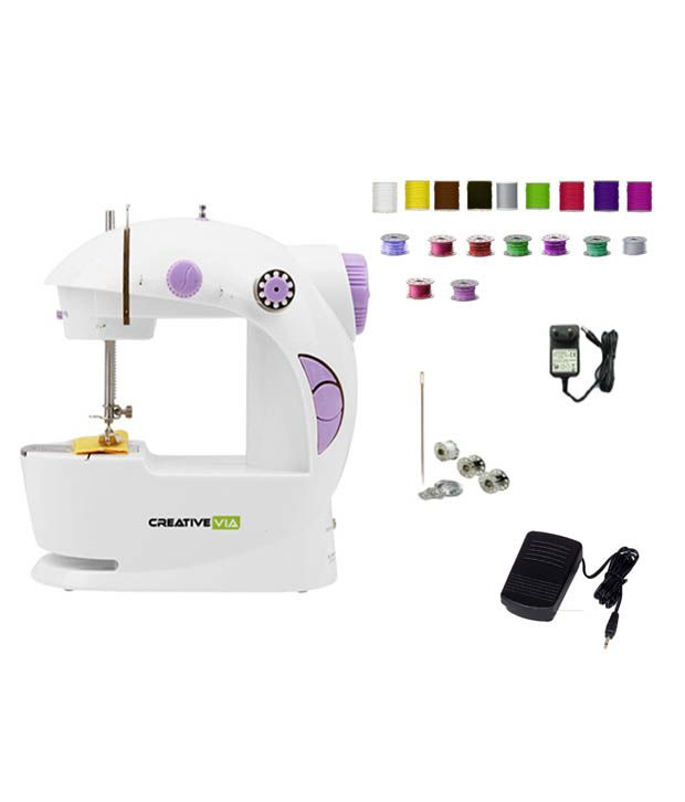 Creativevia-4-In-1-Portable-And-Compact-Mini-Electric-Sewing-Machine-(With-Foot-Pedal)