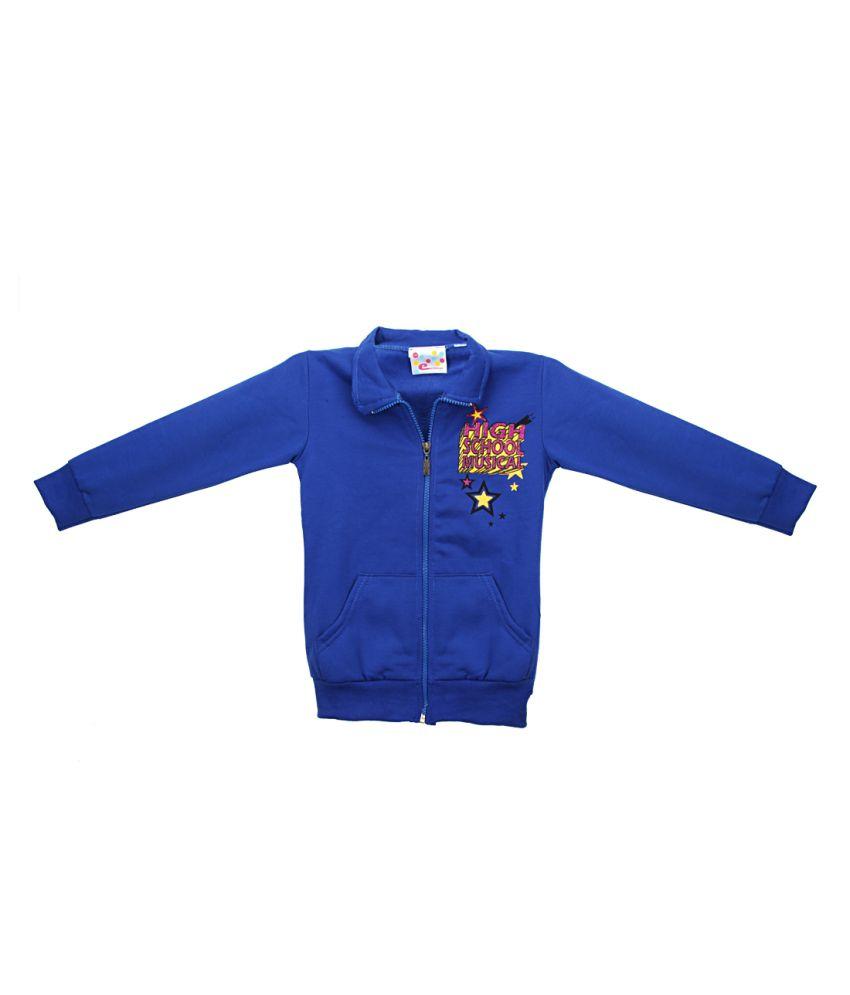 Eimoie Blue Full Sleeve Fleece Jacket