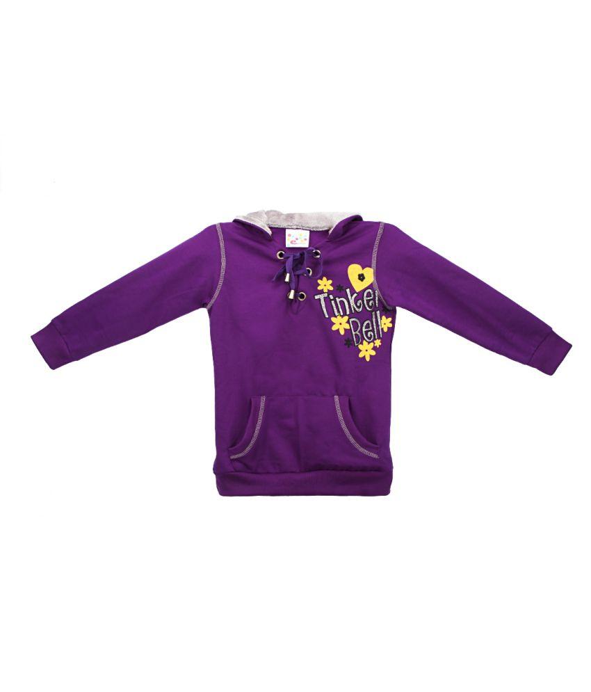 Eimoie Purple Full Sleeve Fleece Jacket With Hood