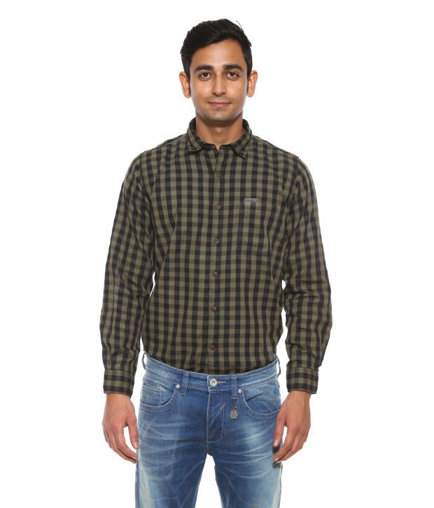Pepe Jeans Green Casual Shirt