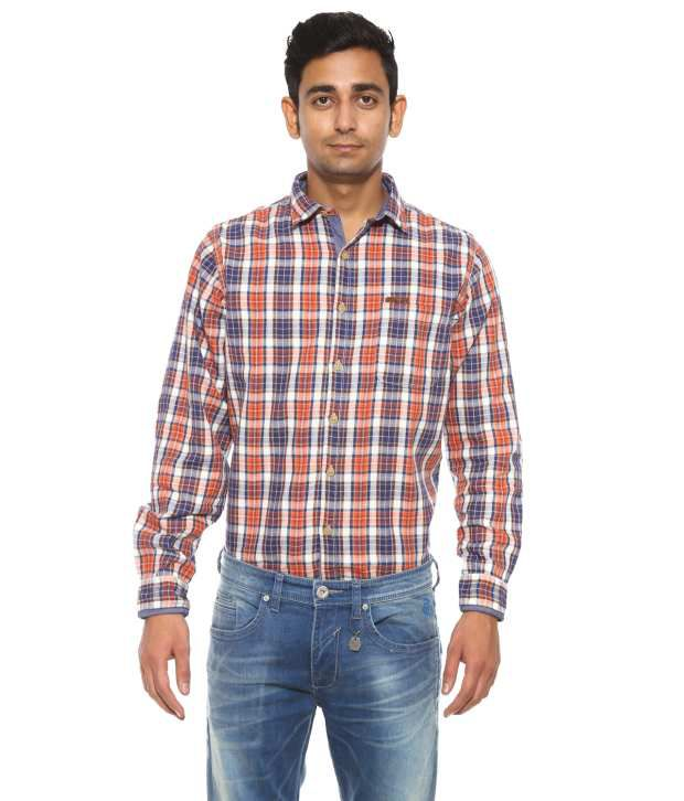 Pepe Jeans Orange Casual Shirt
