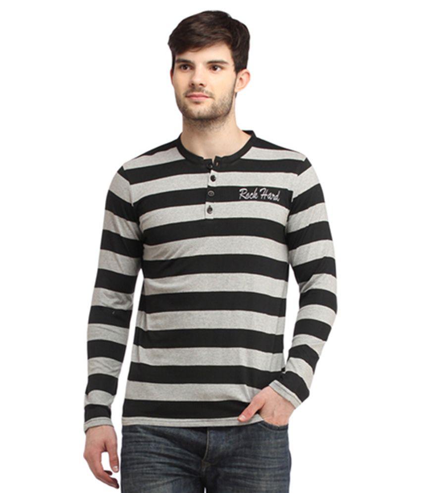 Rock Hard Multi Color Cotton T-Shirt