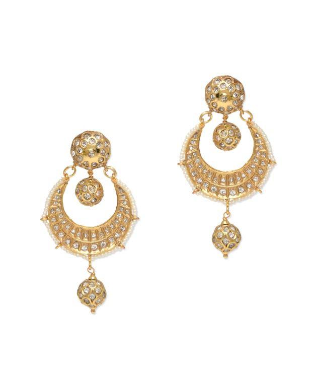 BGS Golden Polki Earrings For Women