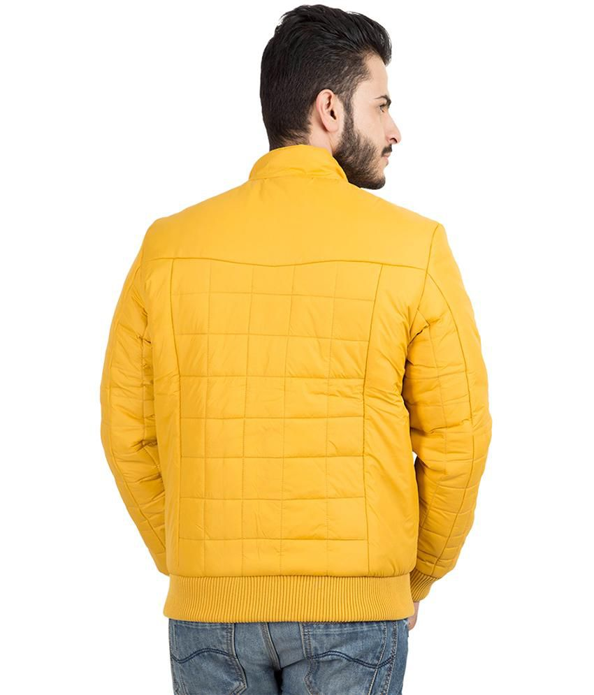 c5fe4a9f0 British Club Orange Full Sleeve Cotton Blend Quilted & Bomber Jacket ...