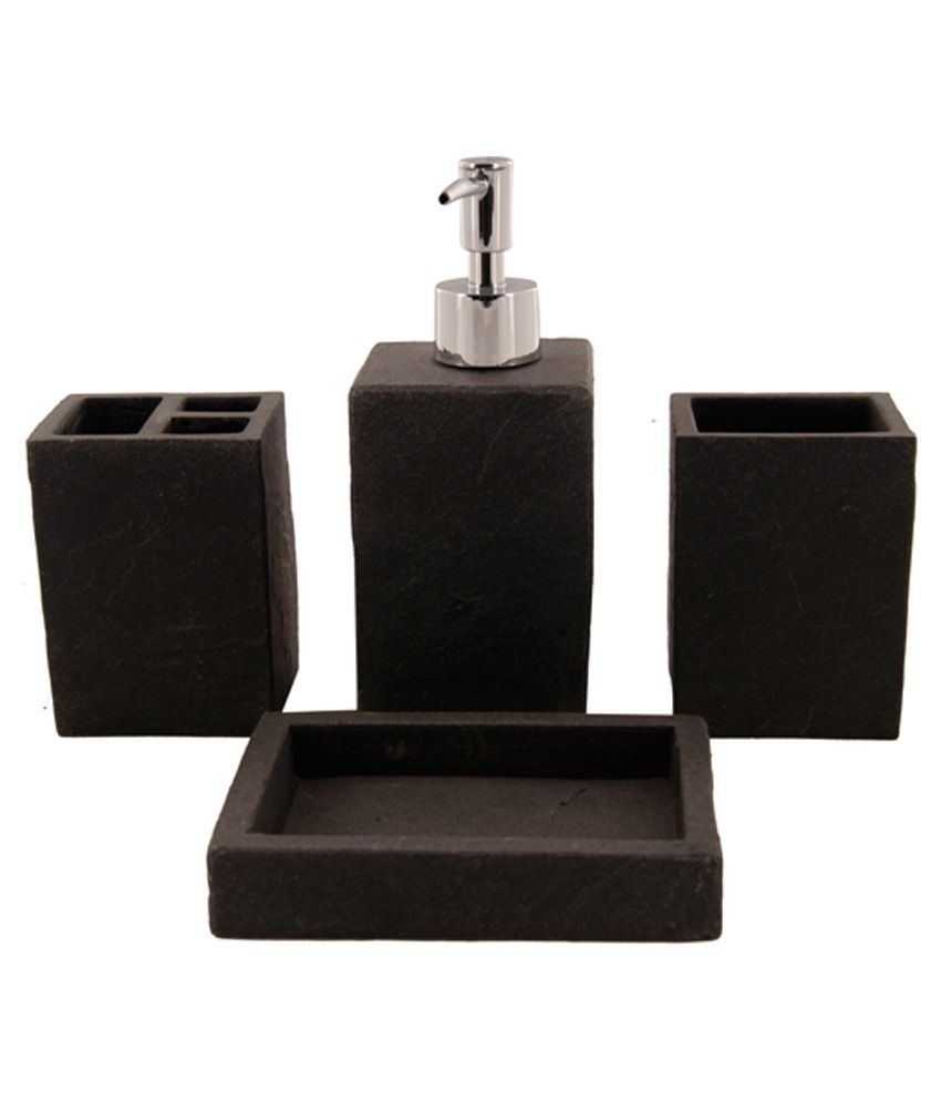 Buy Kothi Brown Melamine Bathroom Luxury Kit Online at Low Price in