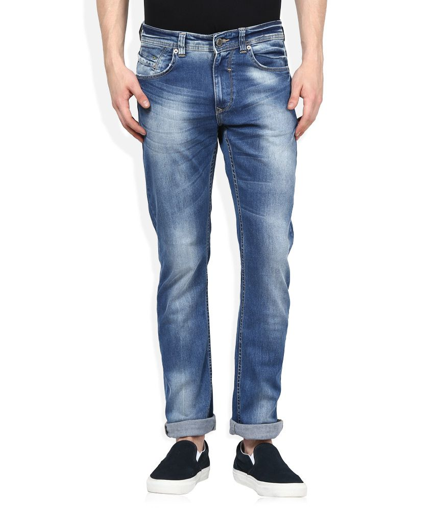 cb8d1a34 Spykar Blue Light Wash Slim Fit Jeans - Buy Spykar Blue Light Wash Slim Fit  Jeans Online at Best Prices in India on Snapdeal