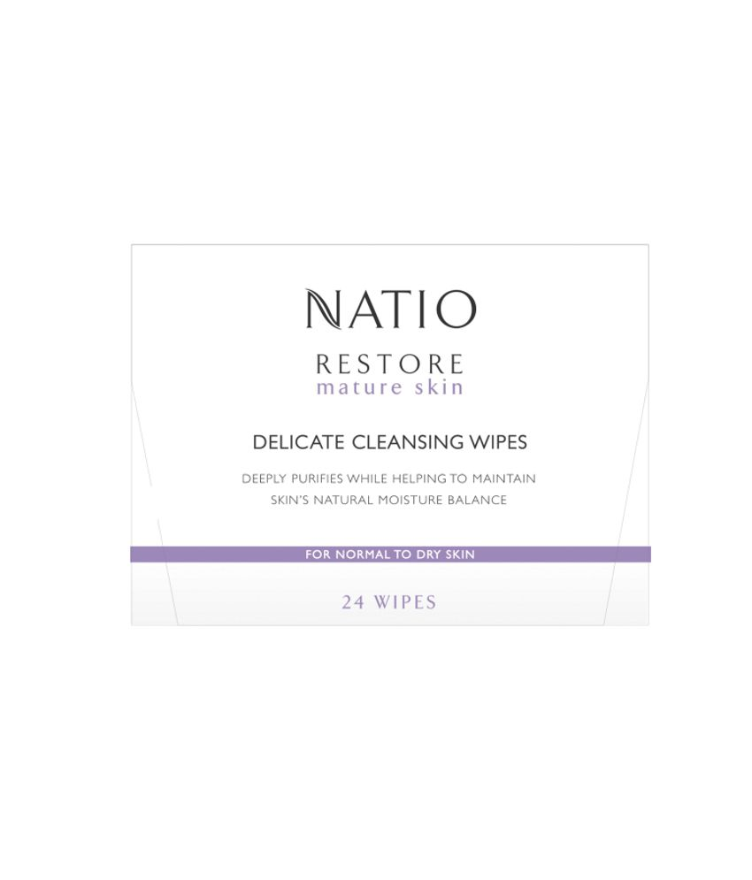 Natio Restore Delicate Cleansing Wipes