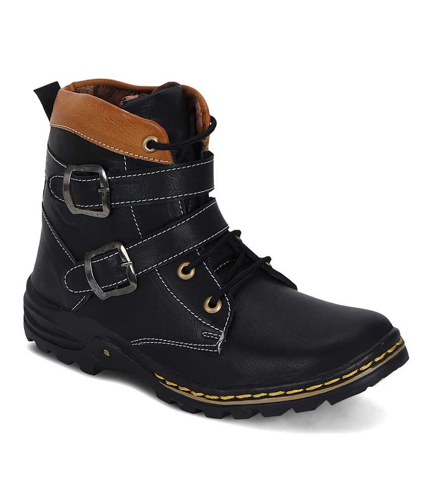 The Palaash Black Boots