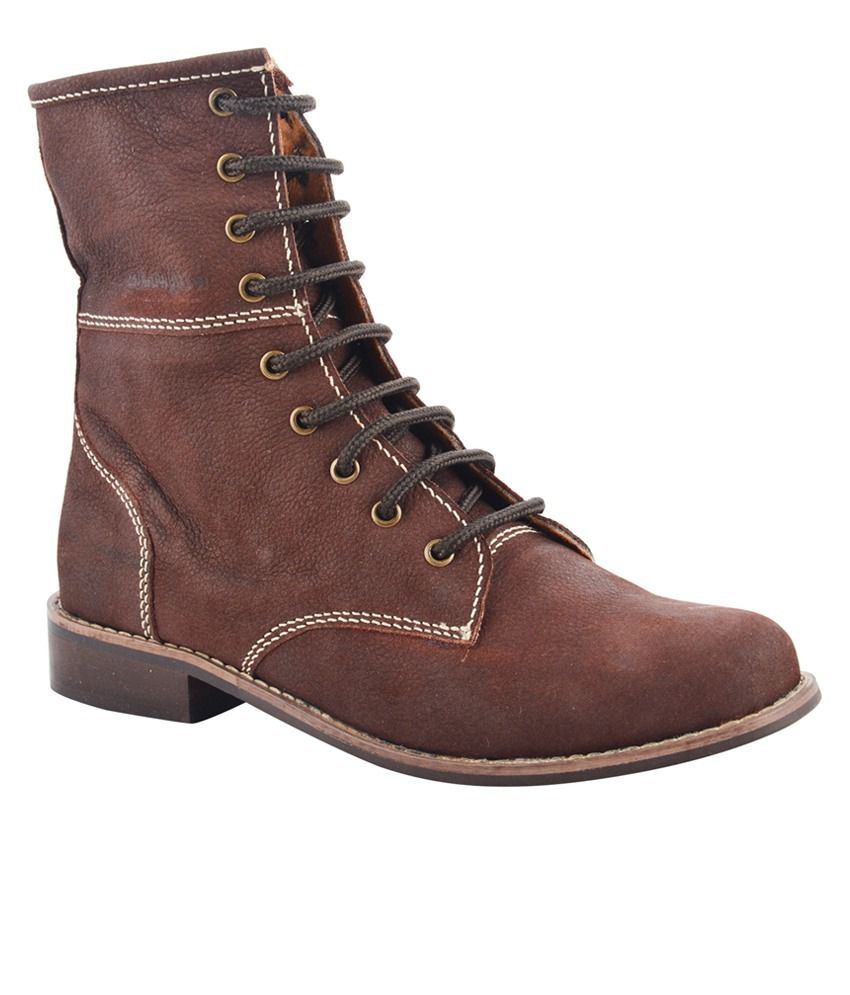 Willywinkies Brown Flat Cowboy Boots