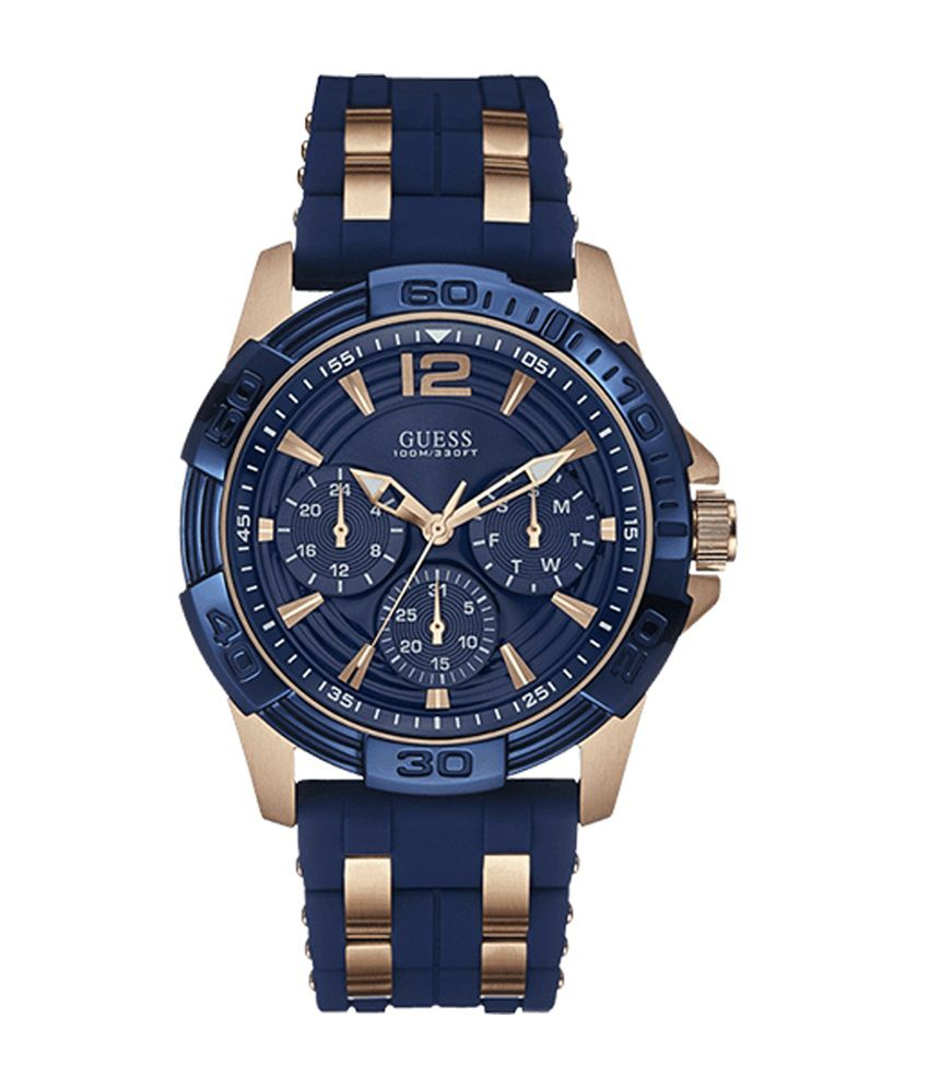 Guess Oasis Navy Blue Dial Analog Watch