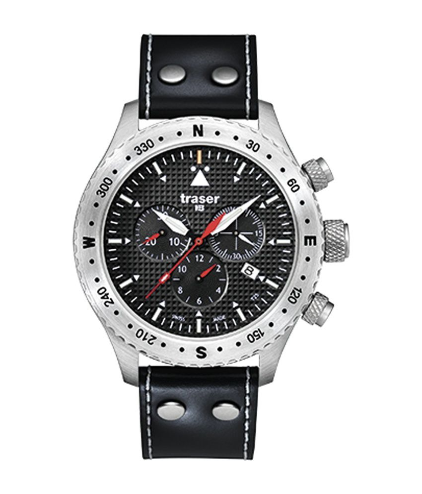 Traser Aviator Black Dial Analog Chronograph Watch