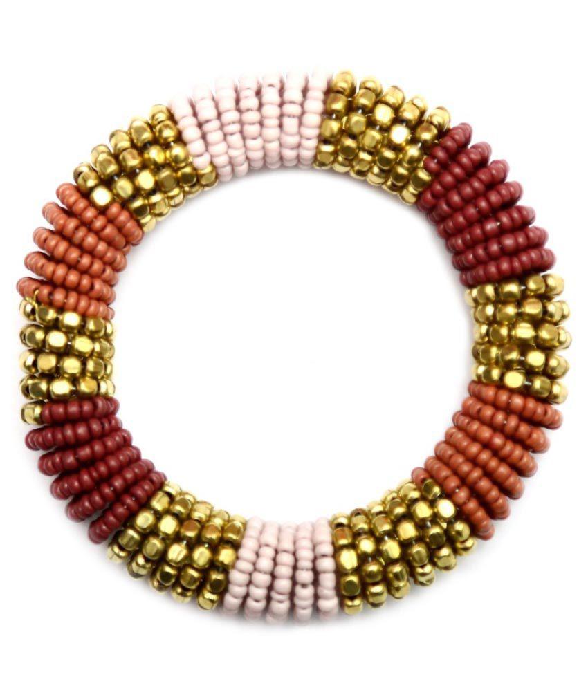 The Turq Connection Multicolour Glass Bracelet