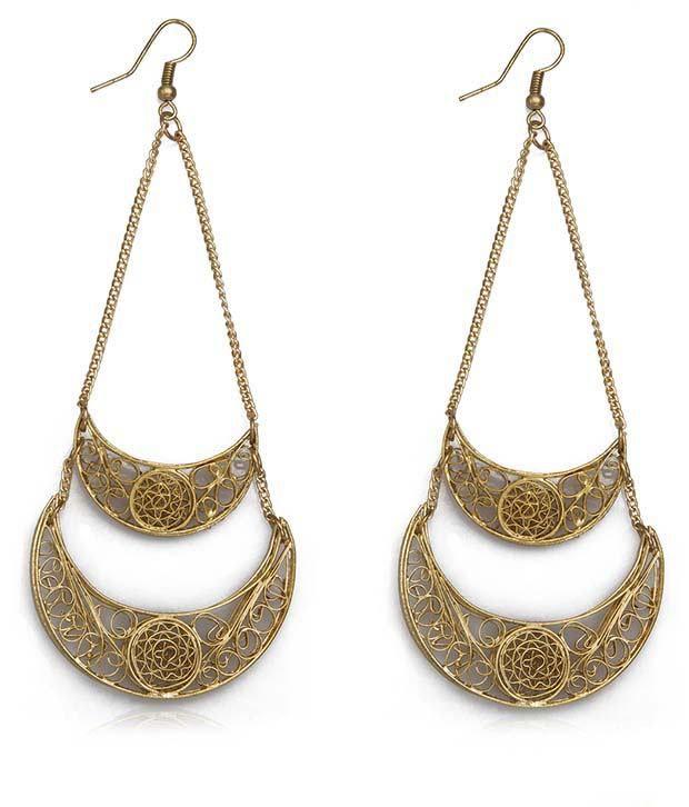 Blueberry Golden Drop earrings