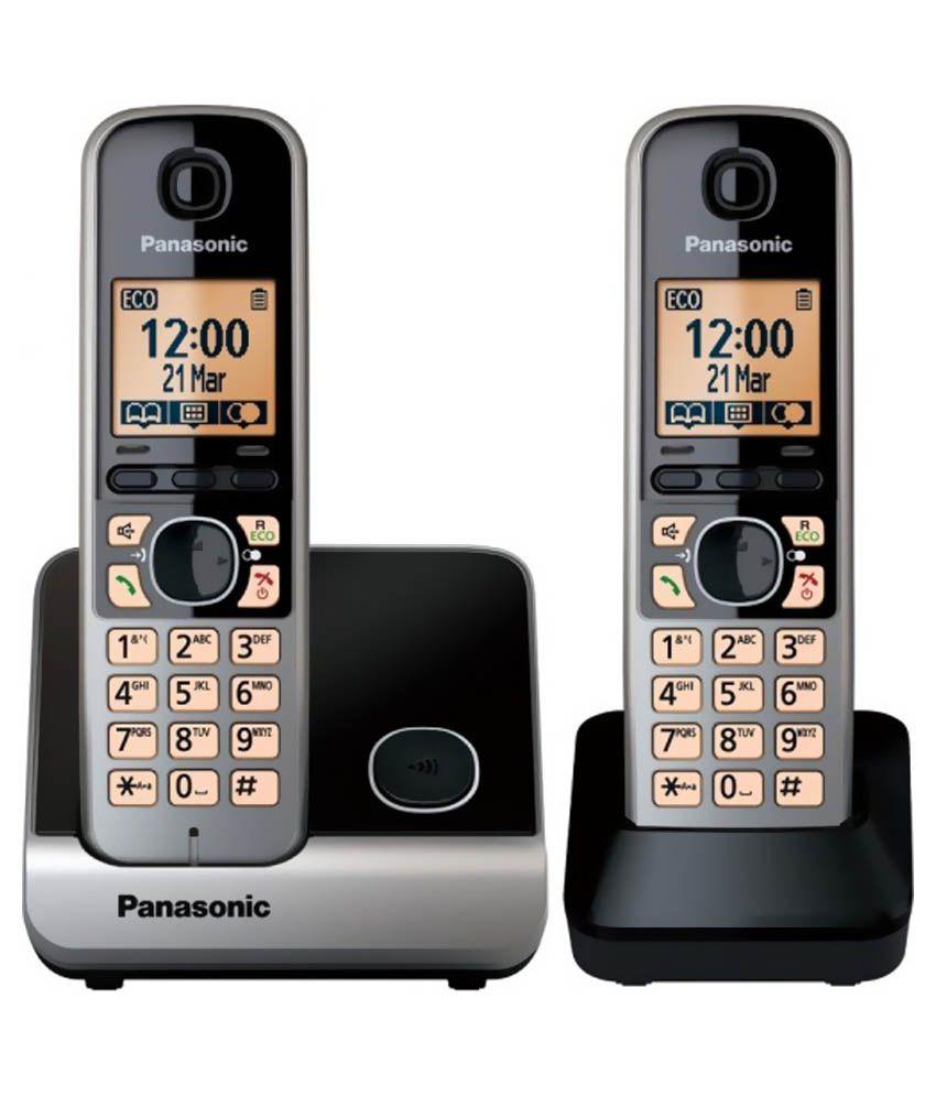 Panasonic Kx-tg6712cx Cordless Landline Phone Black Landline Phone