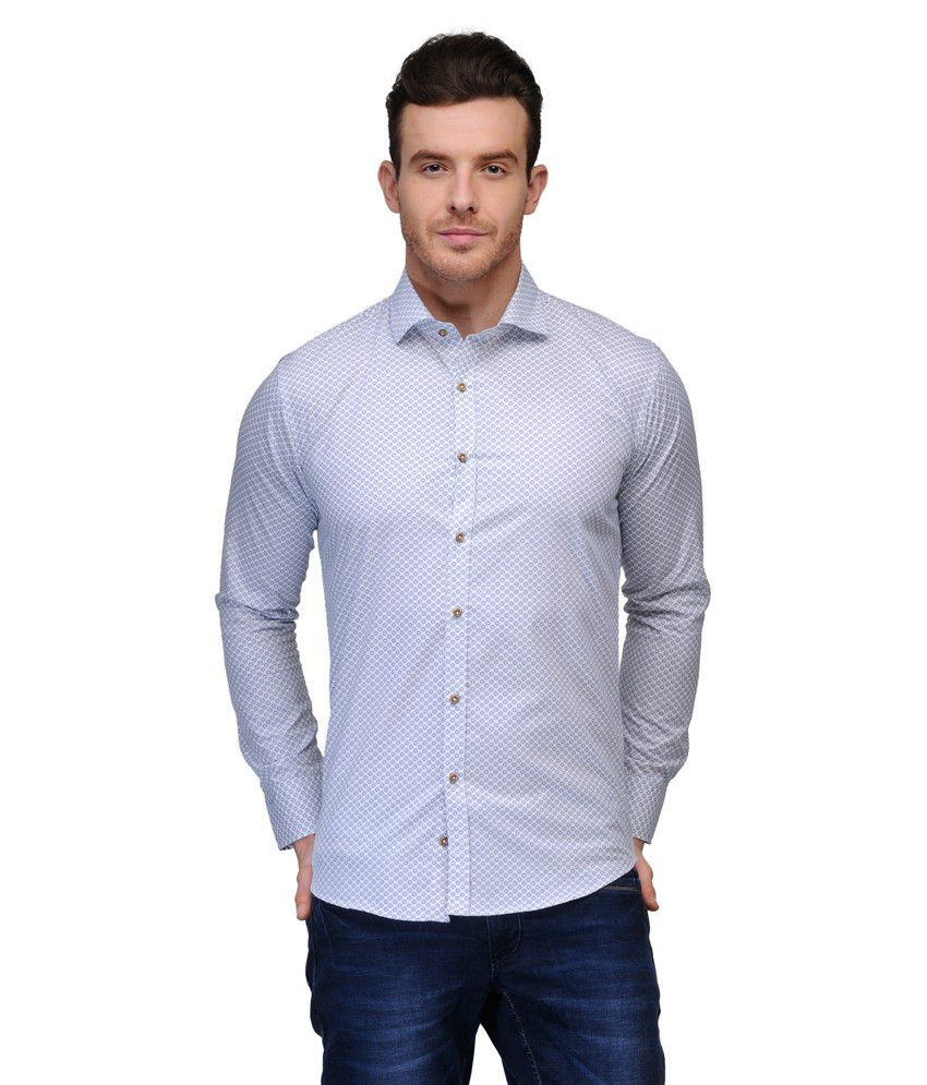 Tailor craft white cotton slim fit casual shirt buy for Tailor dress shirt cost