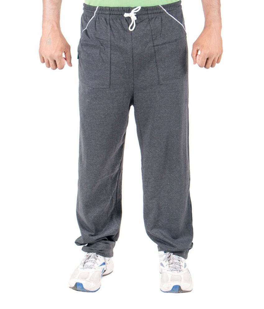 Funky Guys Gray Cotton Trackpants