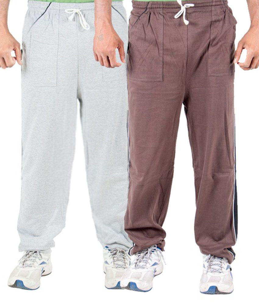 Funky Guys Multicolour Cotton Trackpants Set Of 2