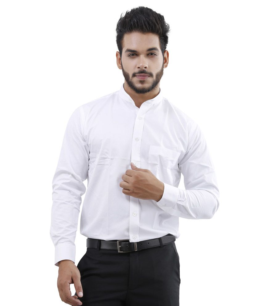 Lamode White Formal Shirt
