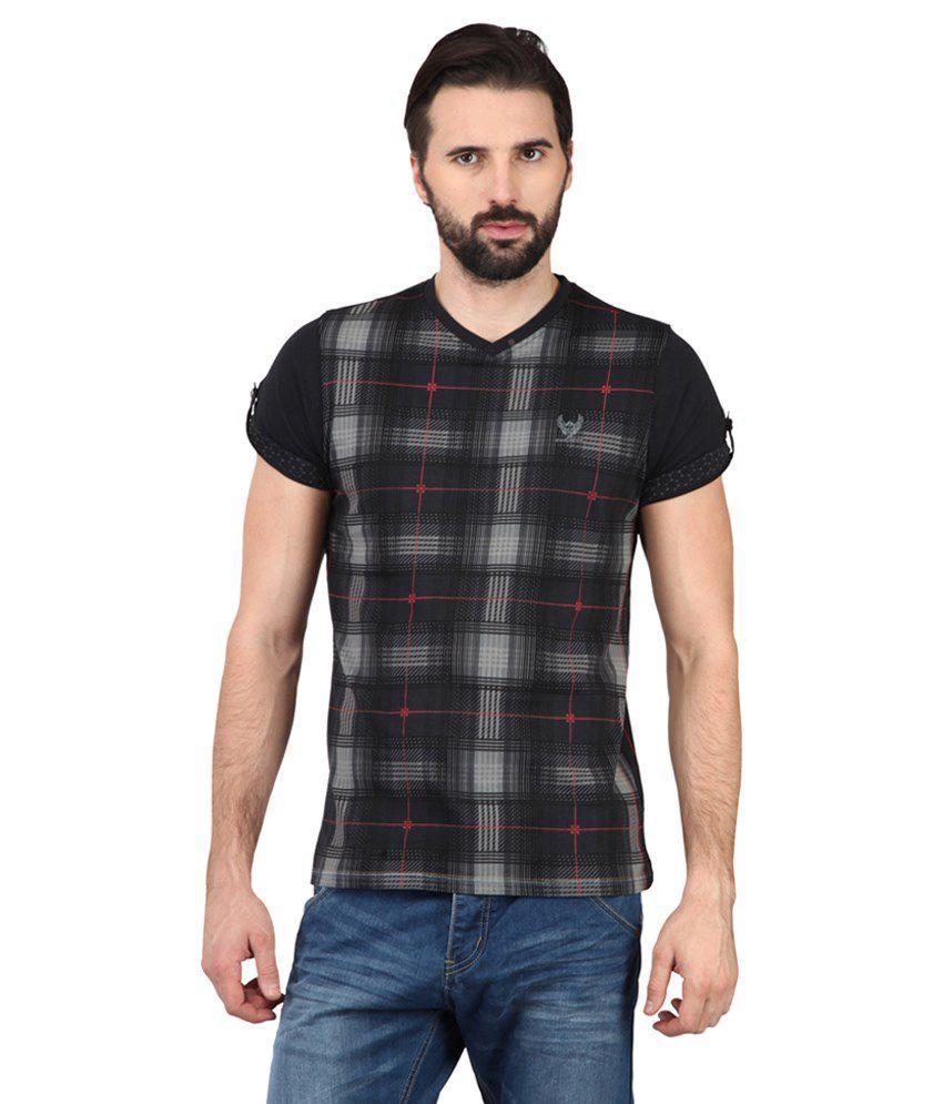 Ringspun Black & White Cotton T-shirt