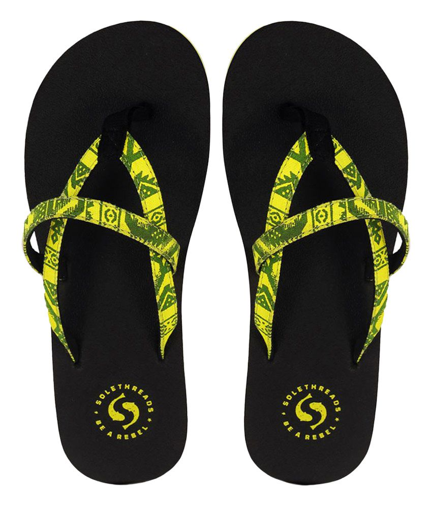 Sole Threads Black Flip Flops