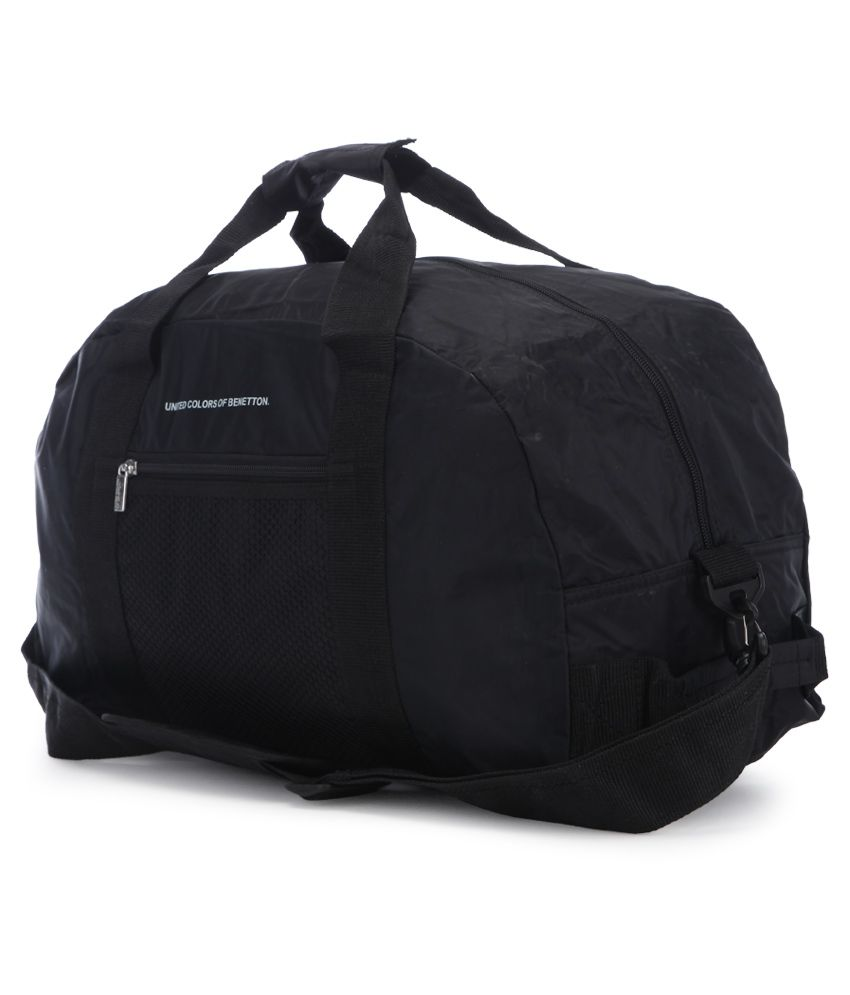 United Colors of Benetton Black Travel Duffle Bag - Buy United ... 7f87b9ae6cff6