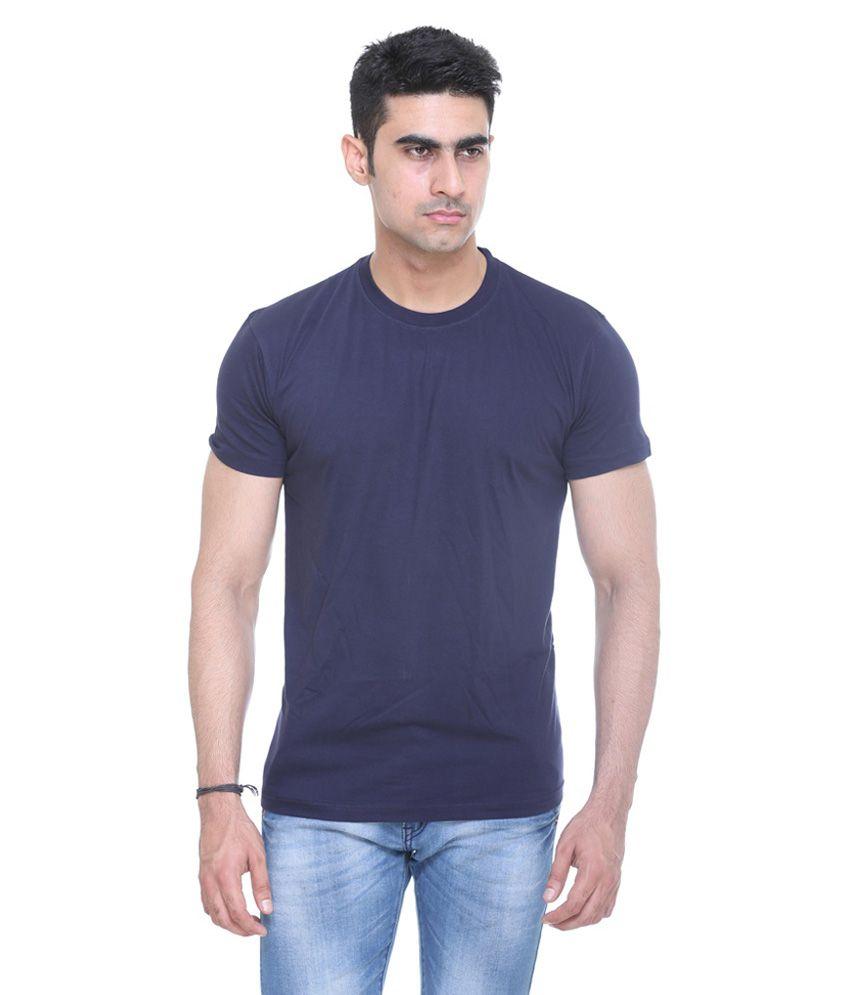 Pal Knitting Works Blue Cotton Blend T Shirt