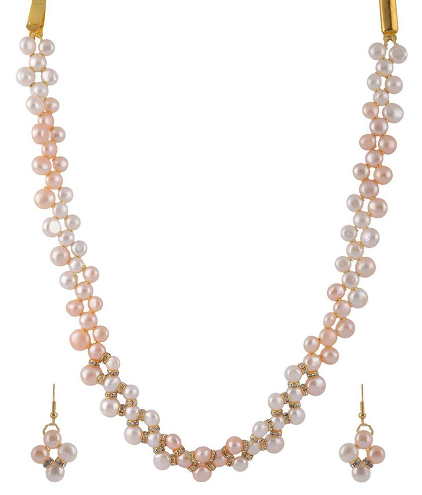 Pearl Bliss White Pearl Necklace Set