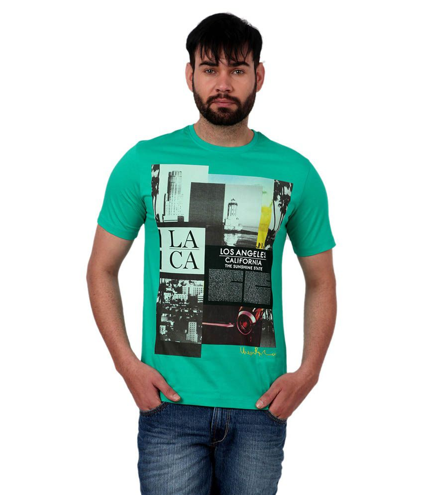 Urban Republic Green Cotton T-shirt