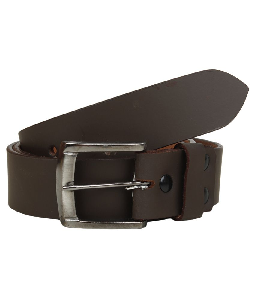 Mauri Brown Pin Buckle Leather Belt For Men