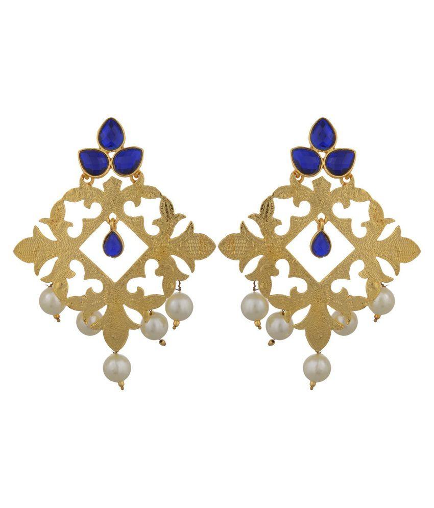 Aazuni Blue Style Diva Drops Earrings