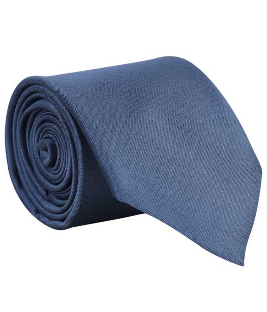 Tie & Cuffs Grey Micro Fiber Formal Broad Tie