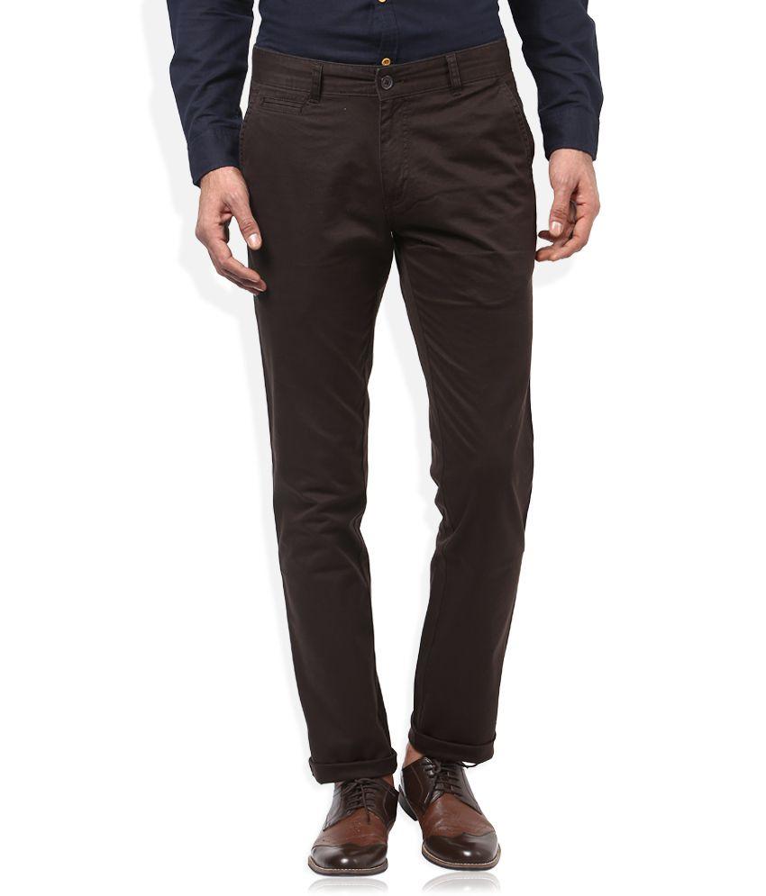 Proline Brown Solid Cargo Pants