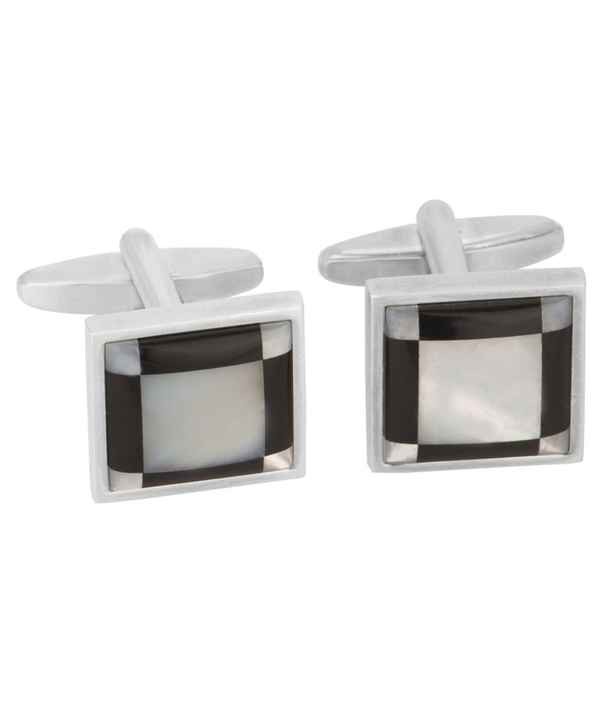 Rosebery Square Design Silver Metal Cufflink For Men