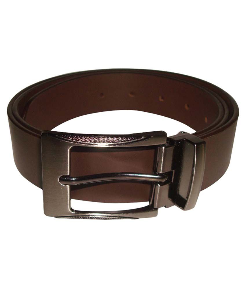 Cob Goshin Brown Leather Pin Buckle Formal Belt