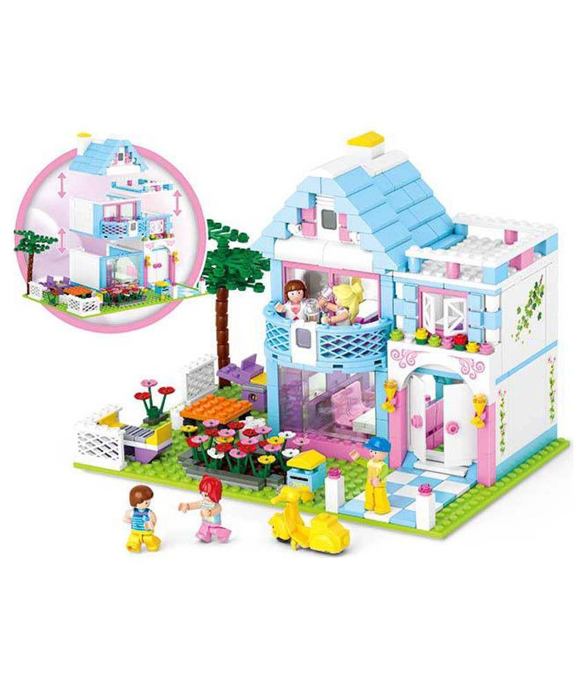 Sluban lego seaside villa best price in india on 5th may for Lego garden pool
