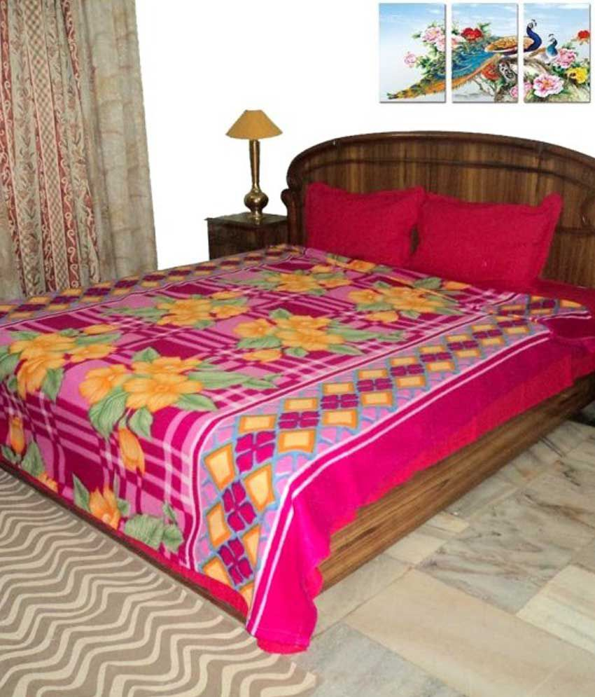 a5cfe68f7e Design Villa Multi Color Double Bed Blanket Cum Woolen Bed Sheet - Buy  Design Villa Multi Color Double Bed Blanket Cum Woolen Bed Sheet Online at  Low Price ...