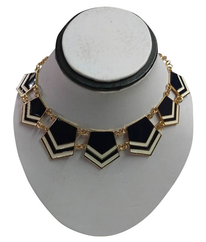 Anchal Black Alloy Necklace