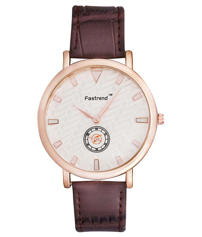 Fastrend Brown Round Analog Formal Watch