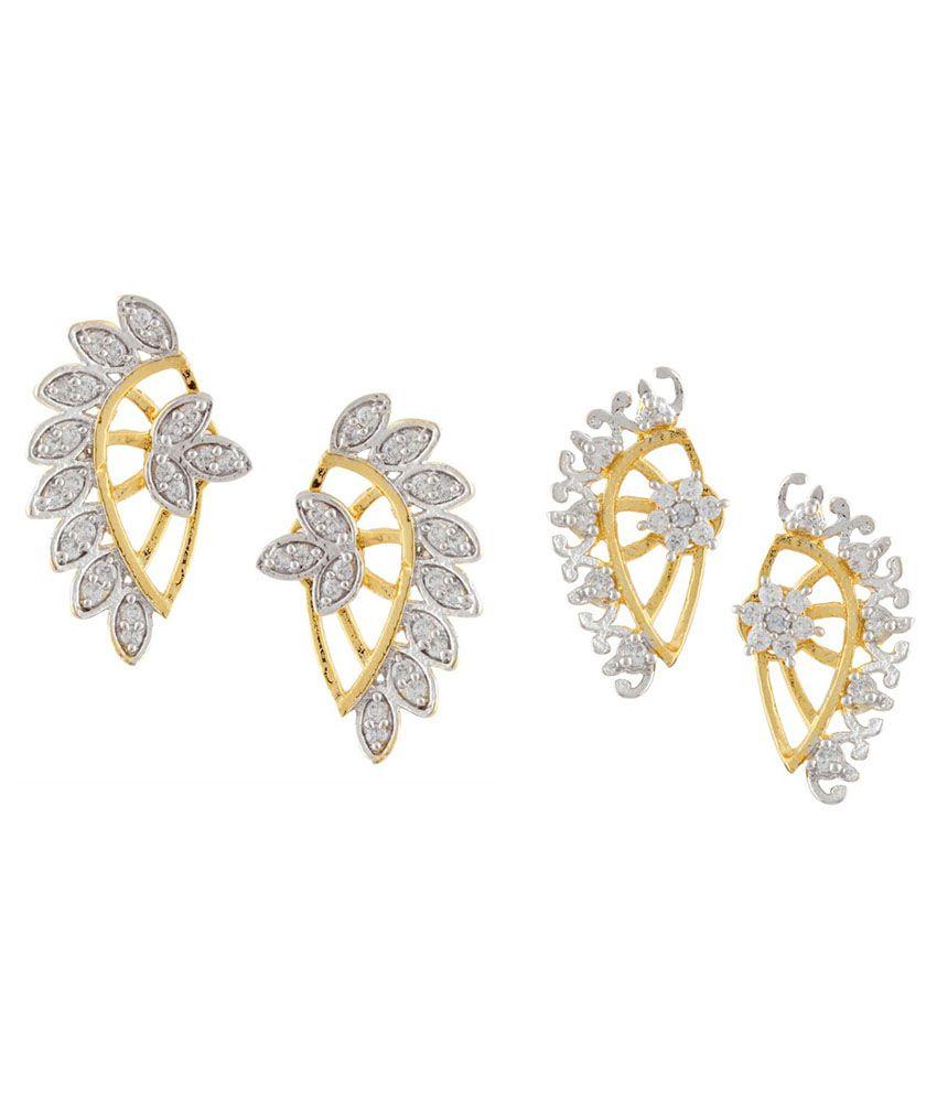 Parijaat Gold Combo Of Alloy Earrings