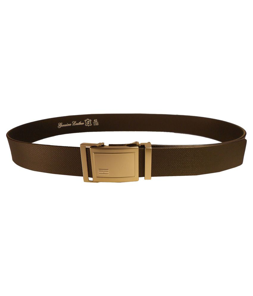 Rocket Market Black Leather Formal Belt For Men