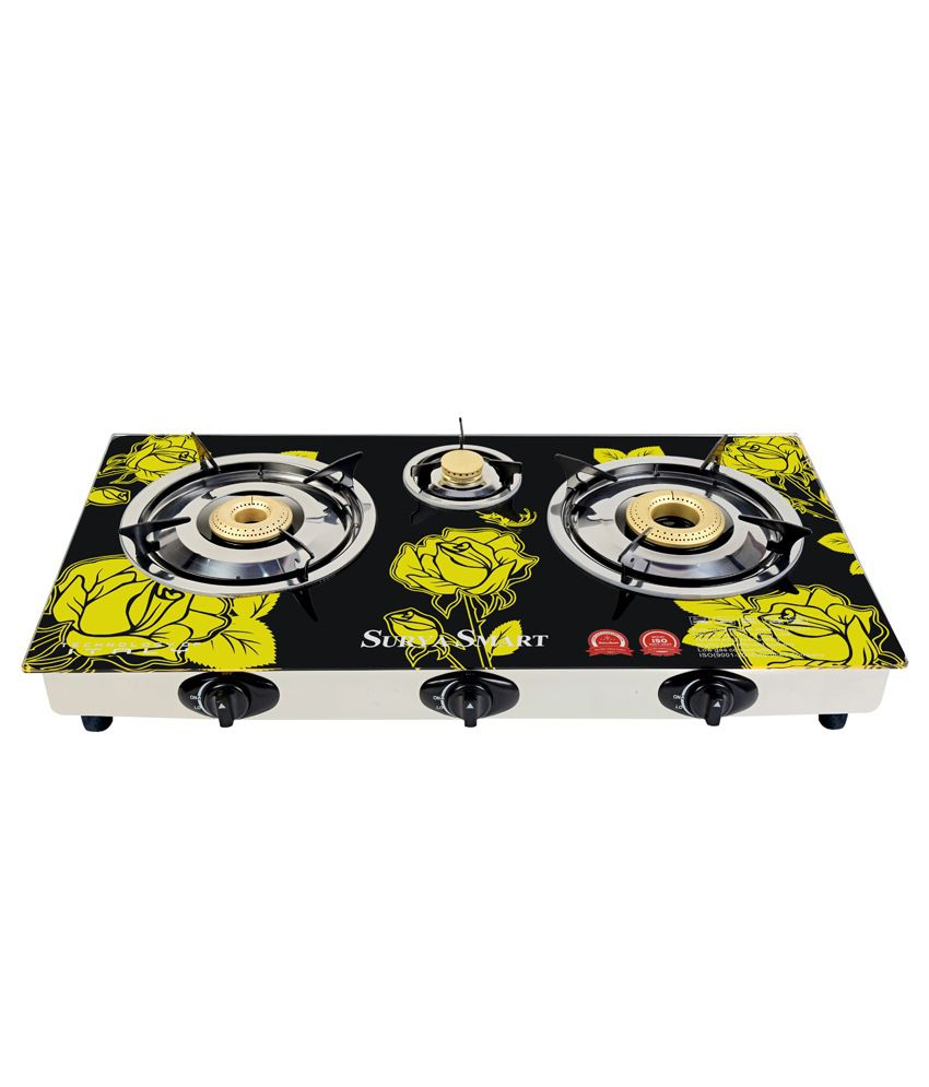 Surya Smart BE603G 3 Burner Auto Ignition Gas Cooktop