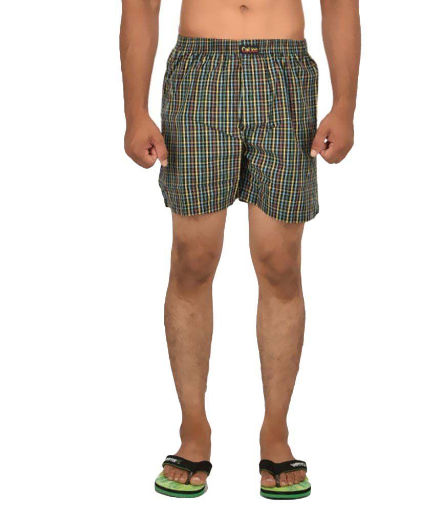 Calico Multicolour Cotton Check Shorts
