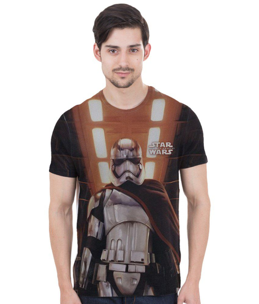 Freecultr Express Black & Orange Captain Phasma Poster Printed T Shirt