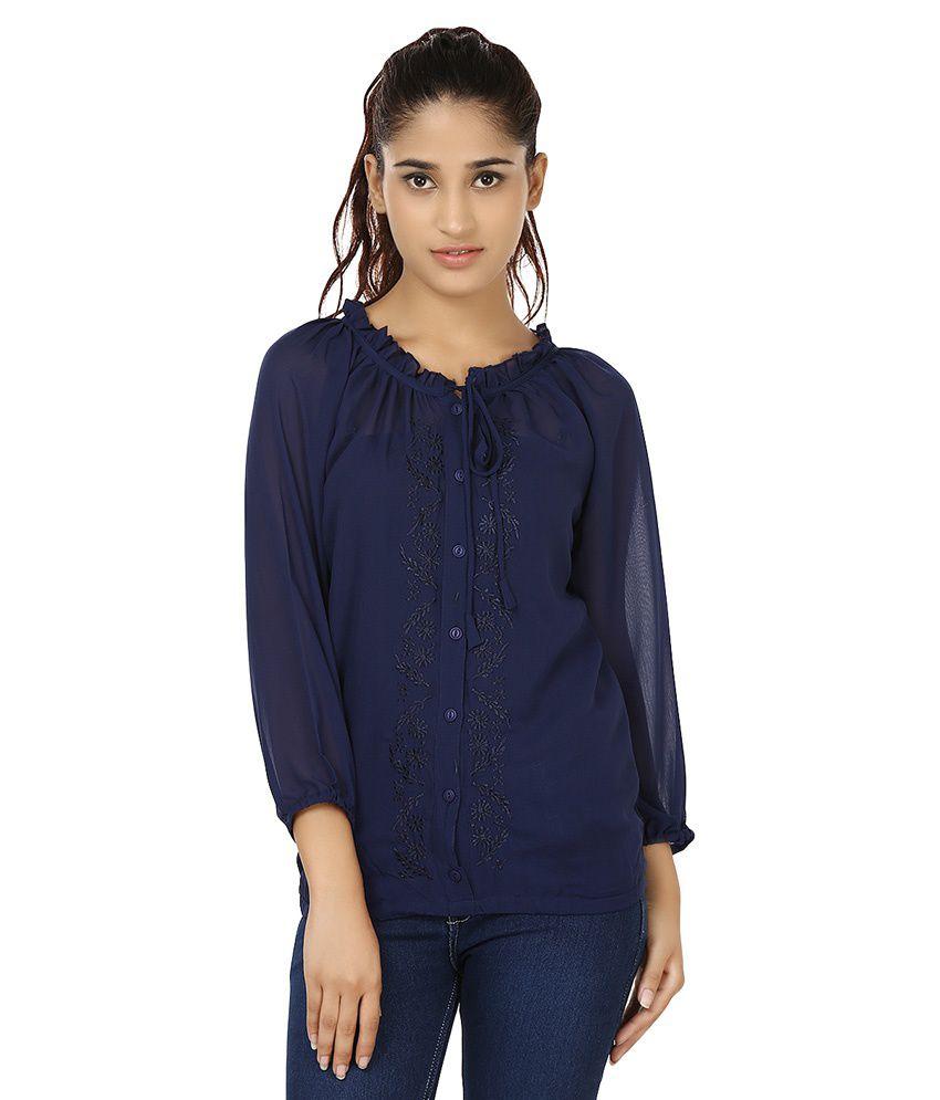 India Inc Navy Cotton Tunics