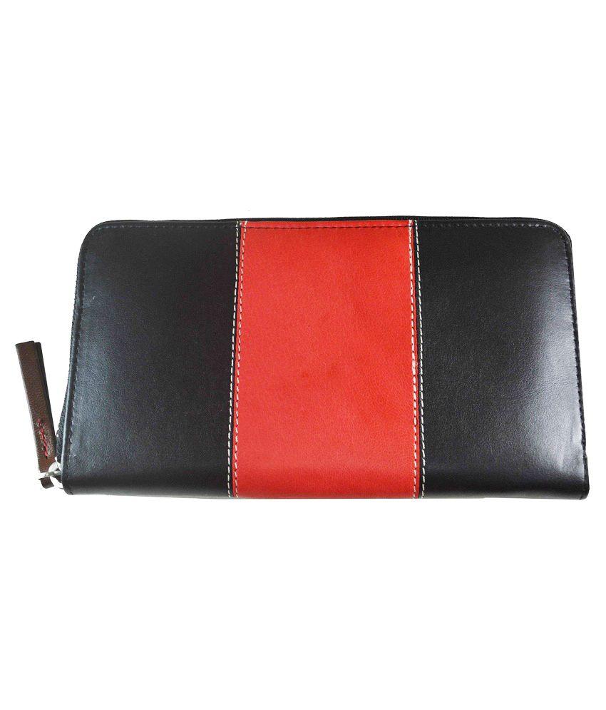 Senses Black Long Wallet For Women