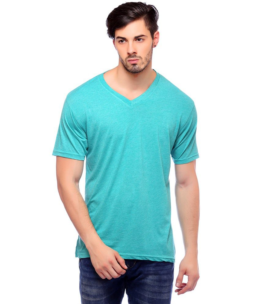 Blackburne Inc Coloured Melange Men's V-neck T-Shirt